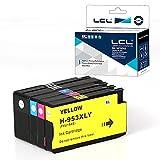 Chip Actualizado LCL Compatible Cartucho de Tinta 953 XL L0S58AE F6U12AE F6U13AE F6U14AE Reemplazo para HP Officejet Pro 7730 7740 8210 8218 8710 8715 8718 8719 8720 8725 8728 8730 8740 (4Pack,KCMY)