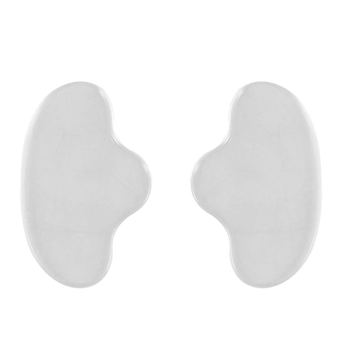 修正する尊敬する悪用Healiftyシリコンフェイシャルチンマスクフェイスパッドシワ防止リムーバーパッチ再利用可能な見えないパッド防止フェイスシワ2個