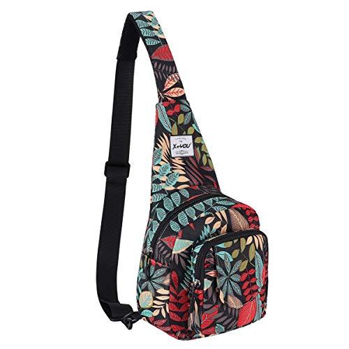 XEYOU Small Sling Bag Backpack Lightweight One Strap Bag Hiking Crossbody Chest Bag Unisex Shoulder Daypack