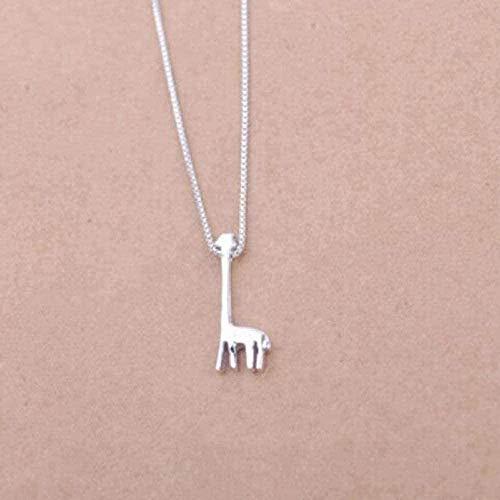 Halskette Frauen Halskette Männer Halskette Schmuck Kleine frische Giraffe Niedliches Tier Antiallergic Clog Halskette Anhänger Halskette Anhänger Kette für Frauen Männer Mädc Geschenk