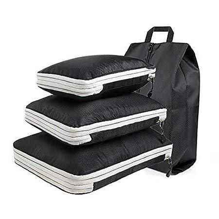 【3/31まで】Alpbee ファスナー式防水圧縮トラベルポーチ(旅行圧縮バッグ) 3点+シューズケースセット 1,495円送料無料!