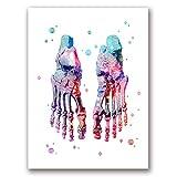 N / A Sin Marco Pies Set Esqueleto Art Foot Bones Anatomía Medicina Medical Office Decor