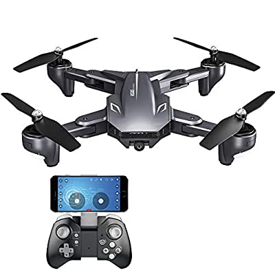 Goolsky Drone with Camera 4K Foldable Auto Return Follow Mode Altitude Hold Gesture Photography Optical Flow Quadcopter XS816