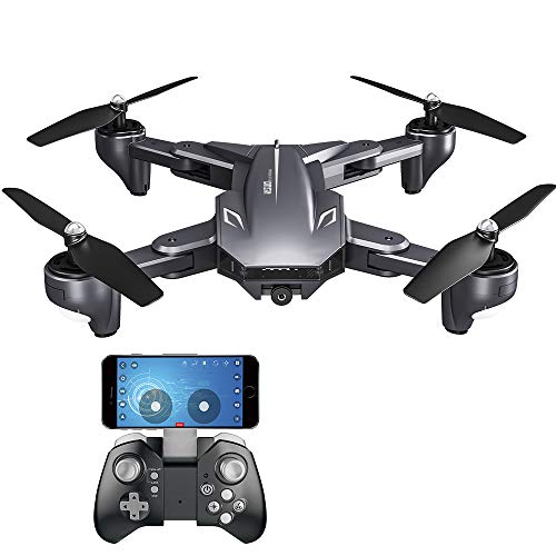Goolsky VISUO XS816 Drohne mit Kamera 4K WiFi FPV Optischer Fluss Positionierung Geste Fotografie Faltbare Quadcopter Höhe Hold Drone