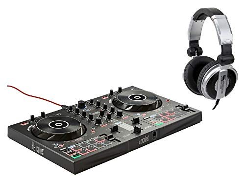 Hercules DJ Control Inpulse 300 Set (2 Deck Controller mit Audio-Interface, DJUCED-Software inkl. DJ-Kopfhörer)