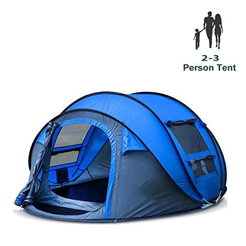 Camping Zelte 1-4 Personen automatisch Pop-up Jurte Outdoor Wandern Single-Layer/Double-Layer wasserdichtes Zelt-2-3-1