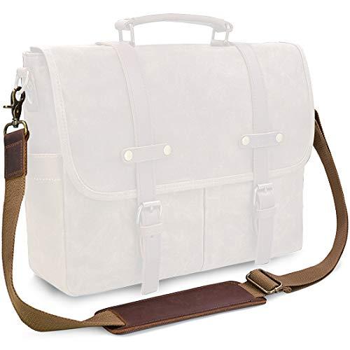 Shoulder Strap Replacement Adjustable Vintage Genuine Leather Shoulder Strap for laptop Messenger Bag Canvas Padded Shoulder Strap for Camera Duffle