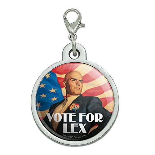 GRAPHICS & MORE Superman Vote for Lex Chrome Plated Metal Pet Dog Cat ID Tag
