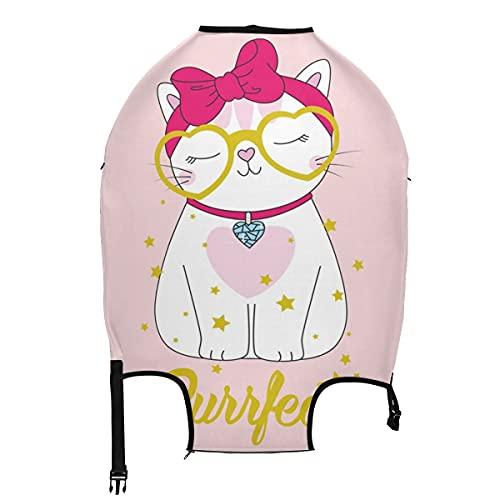 AJINGA Lovely Cat Girl Star - Funda protectora para equipaje de viaje, color rosa