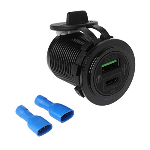 JHD Aluminum DIY 18W Quick Charge QC3.0 USB Type C PD Car Fast Charger Power Adapter for Samsung Xiaomi Huawei Mobile Phone Tablet
