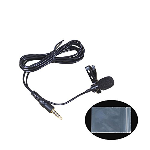 vevice Mini Phone Lavalier Mikrofone Wechselrahmen Mikrofon tragbar Lavalier Knopflochmikrofon für Handy geeignet für Audio-Aufnahme Podcast Interviews Konferenz Live Singen (weiß PE-Tüte * 1)