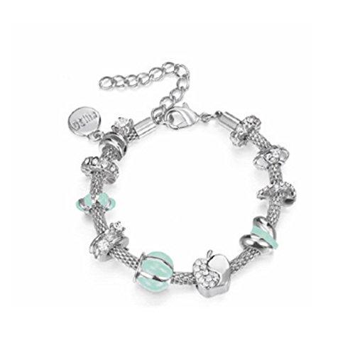 Bracciale Kulto Donna Amelie con Beads Tiffany Rodio KMISS-14
