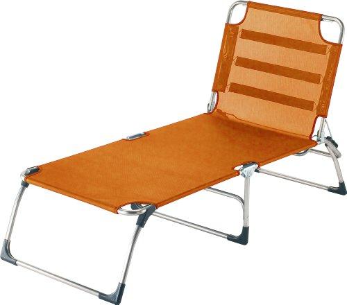 fiam 038TX AR Gartenliege aus Aluminium, zusammenklappbar, 73,5x217x45cm, Orange