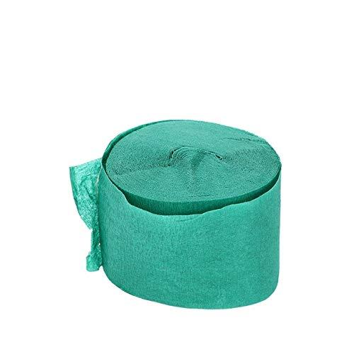 Origami Decorativo crepé Papel crepé Manualidades Embalaje Floral decoración de Fondo de Fiesta de Scrapbooking Plegable - Verde Oscuro