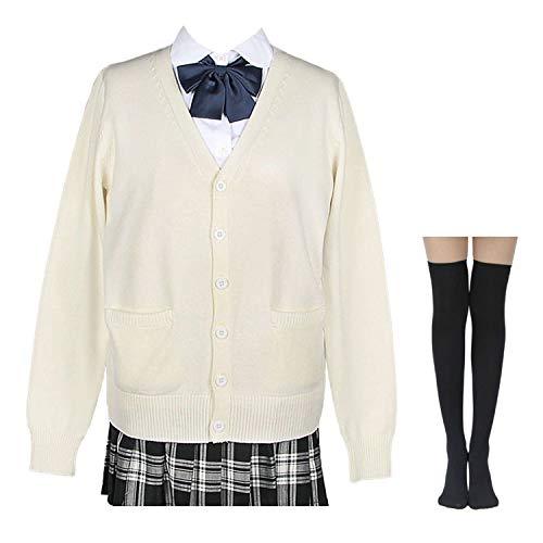 Womens Japan School Uniform Sets Cosplay Costume Anime Girl S Ivory