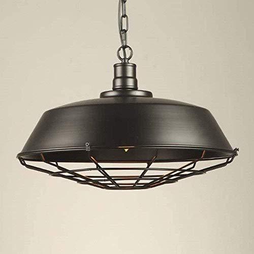 Lámpara de araña de estilo retro industrial con rejilla 1 lámpara colgante ajustable de luz, accesorio de techo