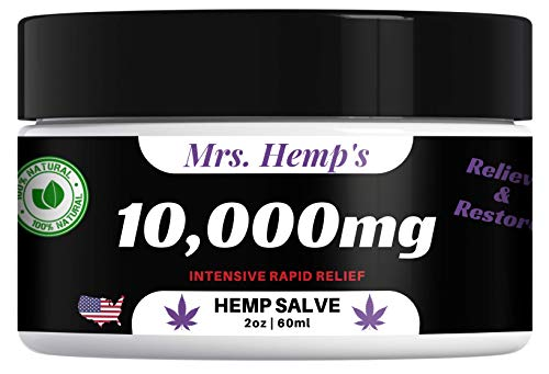 10000 MG Hemp Ultra Strength Healing Salve | 100% Natural Cream Relieves Inflammation, Muscle, Joint, Knee, Nerve Damage, Neck, Back & Arthritis Aches & Pain | Fast Acting, Maximum Power, Quick Relief
