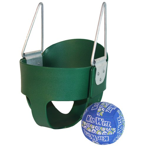 High Back Full Bucket Toddler Infant Swing Seat With Bonus Ball - Seat Only - Green