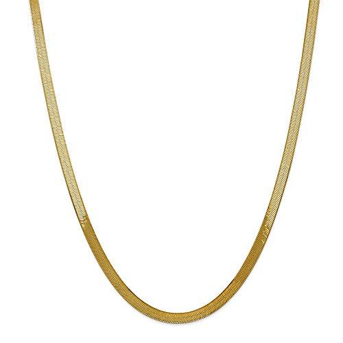 Halskette 14 Karat (585) Gelbgold Seidige Fischgräten-Halskette 45,7 cm