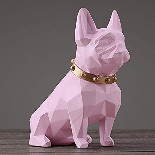 Statue Home Accessories Sculpture Home Decor Resin Puppy Decoration Home Living Room Office Decoration Birthday Gift-Pink