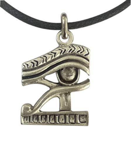 Eurofusioni Ojo de Horus Amuleto Colgante de Buena Suerte chapada Plat