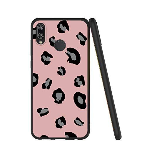 Yoedge Capa para celular Huawei P20 Lite, capa de celular preta com padrão [ultrafina] à prova de choque flexível de silicone TPU (poliuretano termoplástico) macio para Huawei P20 Lite (leopardo rosa)