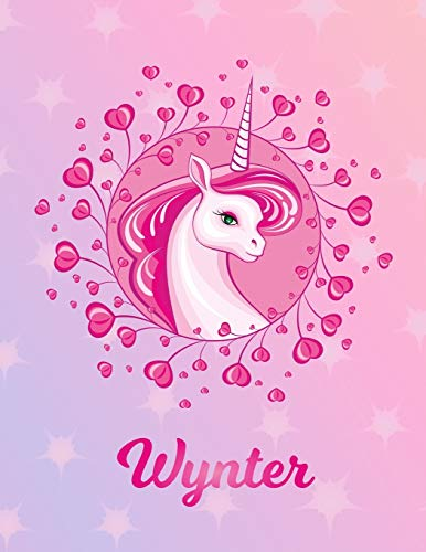 Wynter: Unicorn Sheet Music Note Manuscript Notebook Paper – Magical Horse Personalized Letter W Initial Custom First Name Cover – Musician Composer … Notepad Notation Guide – Compose Write Songs