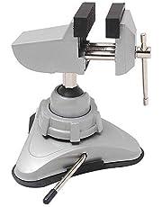 Hi-Spec Mini Tornillo de Banco de Apriete Giratorio con Ventosa de Sujeción para Precisión de Construcción de Maquetas, Reparación de Aparatos Electrónicos, Orfebrería, DIY, Soldar