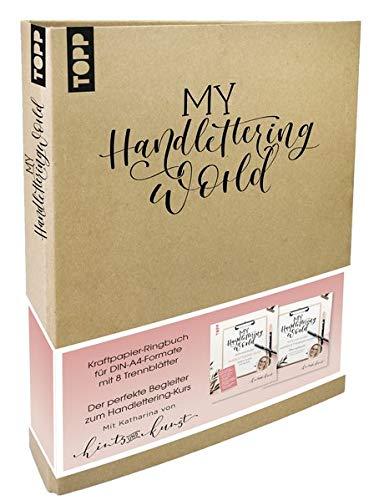 My Handlettering World Ringbuch DIN A4: Kraftpapier-Ringbuch zum individuellen Gestalten mit 8 Trennblättern