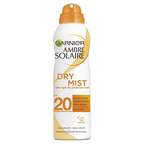 Garnier, Ambre Solaire Dry Mist UltraLight Dry Protection Mist Medium SPF20, 200 ml