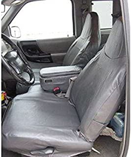 Durafit Seat Covers Made to fit Ranger XLT XCab High Back 60/40 Split Bench Seat Covers in Tan Twill with Opening Center Console and Rear Jump Seats