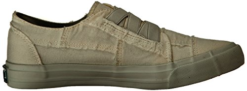 Blowfish Malibu Women's Marley Fashion Sneaker, White Color Washed Canvas, 8.5 Medium US