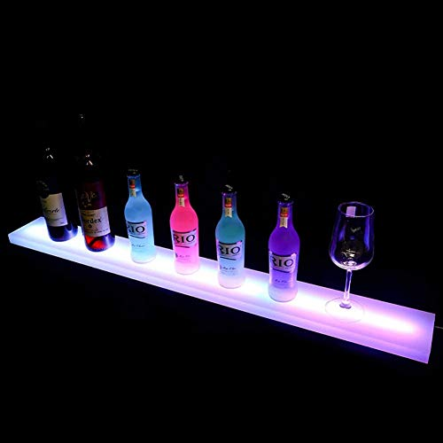 WJQQ Estante de Vino Luminoso Acrílico LED, Modernos Soporte para Botella de Vino, Decoracion para Casa Bar Cumpleaños Partido...