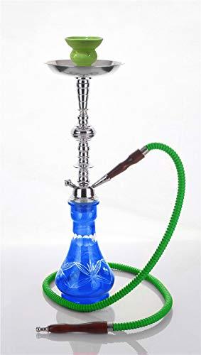 medium Groen 1 tube hookah nieuw Midden-Oosten glazen vaas Shisha Pipe chicha zonder tabak - zonder nicotine
