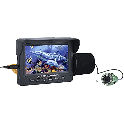 MAOTEWANG 15M 1000TVL Fish Finder Underwater Fishing Camera 4.3' LCD Monitor 6PCS 1W IR LED Night...