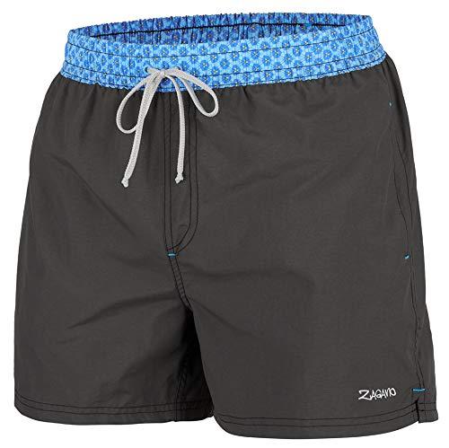 Zagano Badehose Herren Jungen Badeshorts Männer Schwimmhose Sporthose kurz Shorts S-6XL, Hergestellt in der EU (Dunkelgrau, XXL)
