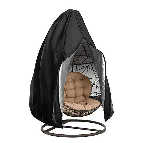 ONEVER Cubierta De Silla Colgante De Huevo con Cremallera, Antipolvo Impermeable - Cubierta De Muebles De Jardín - para Columpio De Mimbre De Mimbre Al Aire Libre (190cmx115cm)