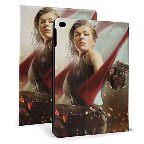 Resident Evil - Custodia per iPad 7.9 4/5, in pelle sintetica, antiurto, con funzione di supporto