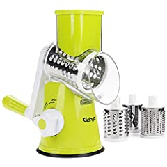 【Safety & Healthy】 No more touching blades to get rid of injury. Gohyo rotary cheese grater protects you from the sharp blades. All parts are made of food grade BPA-FREE material, help you keep healthy better. 【High Efficient】 The vegetable Chopper c...