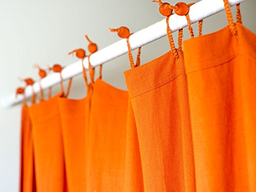 "Organic Hemp Shower Curtain Full Size (73.5""x72"") - Terracotta"