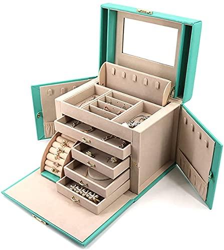 IENPAJNEPQN Jewelry Box for Women Girls Travel Case Collar Anillo Pendientes Organizador Organizador de joyería para cajones