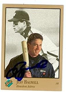 Jeff Bagwell autographed baseball card (Houston Astros SC) 1992 Donruss Studio #31 - Baseball Slabbed Autographed Cards