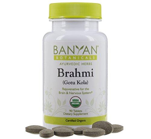 Banyan Botanicals Brahmi/Gotu Kola Tablets - USDA...