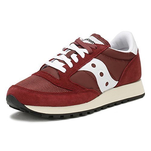Saucony Jazz Original Vintage, Sneakers Unisex-Adulto, Burgundy White 11, 40 EU