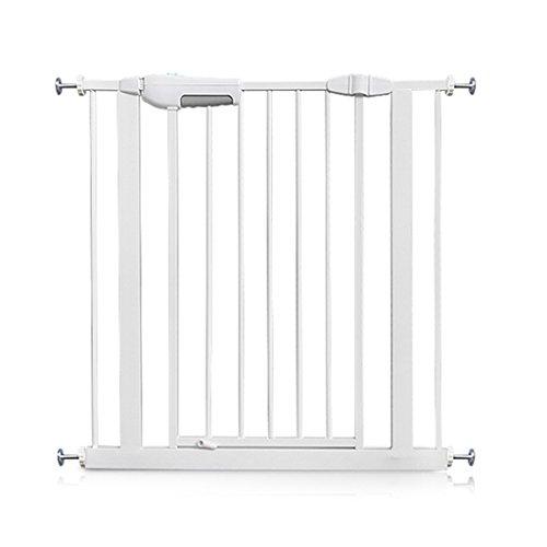 barrière de sécurité Les Portes De Sécurité D'intérieur Montées Par Pression De Porte De Bébé Extra-large Pour Des Escaliers Couloirs De Porte En Métal Blanc Facile Ouvert 60-204cm ( taille : 115-124cm )