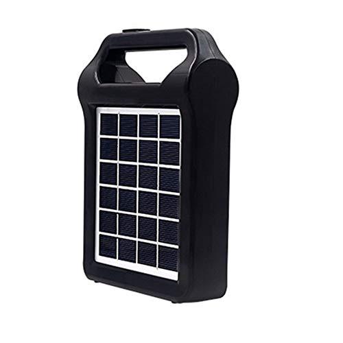 Brianer Estación de energía portátil, Sistema de generador de Panel Solar, Puerto USB Integrado lámpara de iluminación para Exteriores, Camping, Viajes de Emergencia