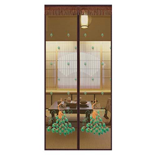 Zanzariera Magnetica Magnetic Fly Screen Door, Tenda Tenda della Porta Anti- zanzara Volare Schermo dell' Insetto Tenere Bug out Let Aria Fresca (Color : Brown, Size : 100 * 210cm)