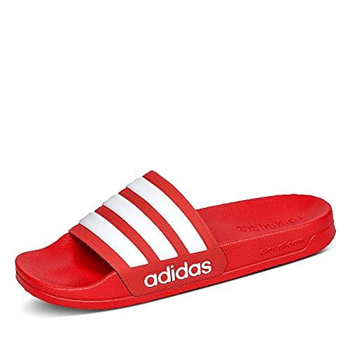 adidas Herren Adilette Shower Slide Sandal, Scarlet/Cloud White/Scarlet, 46 EU