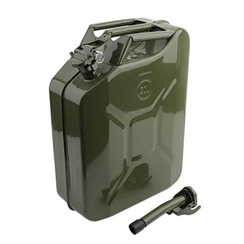 Tanque de Gasolina, Contenedor de Combustible de Motocicleta portátil de Metal Tanque de Agua de Aceite de Gasolina Diesel Lata de Gasolina con Pico (20 litros)