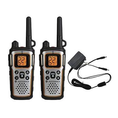 Motorola MU350R 35-Mile Range 22-Channel FRS/GMRS Two Way Bluetooth Radio Weatherproof (Grey)